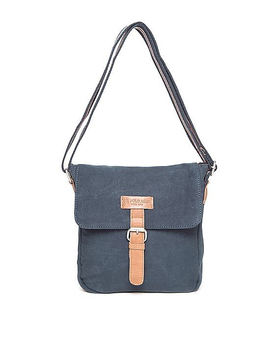 23b2127cae Buy Men Leather Trimmed Canvas Sling Bag online at NNNOW.com