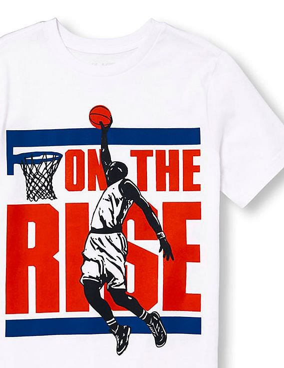 baba26bc802b the childrens place boys boys short sleeve on the rise basketball dunk  player graphic tee