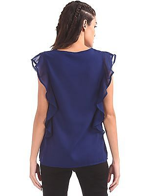 SUGR Ruffled Woven Top