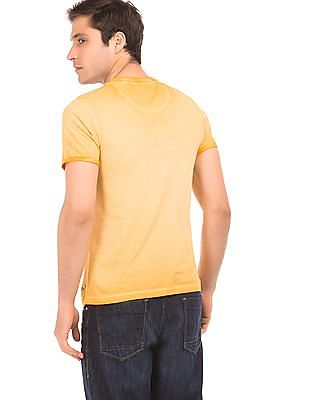 Flying Machine Dyed Regular Fit T-Shirt
