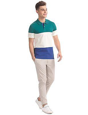 Gant Original 3-Color Stripe Pique Short Sleeve Rugger