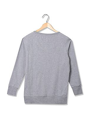 Flying Machine Women Standard fit Printed Sweatshirt