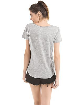 Aeropostale Heathered V-Neck T-Shirt