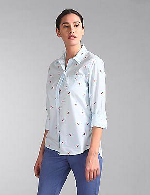 GAP Spread Collar Stripe Shirt