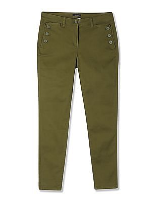 Nautica Brushed Cotton Stretch Ankle Length Pants