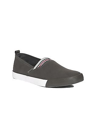 Flying Machine Striped Gusset Round Toe Slip On Shoes