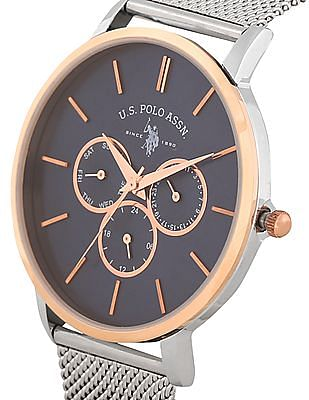 U.S. Polo Assn. Stainless Steel Strap Chronograph Watch