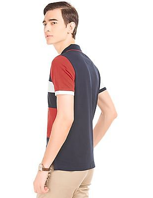 Arrow Sports Colour Block Regular Fit Polo Shirt