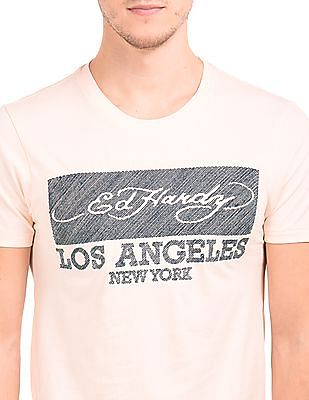 Ed Hardy Regular Fit Embroidered Chest T-Shirt