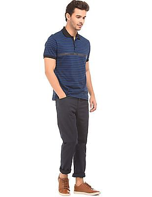 Nautica Striped Slim Fit Polo Shirt