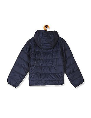 The Children's Place Boys Blue Hooded Puffer Jacket