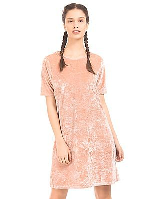 EdHardy Women Crushed Velour Shift Dress