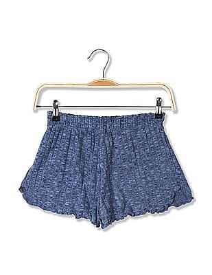Aeropostale Patterned Knit Elasticized Waist Shorts