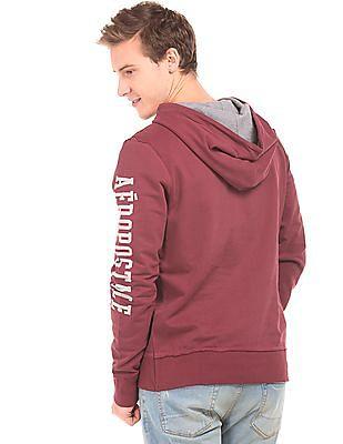 Aeropostale Hooded Printed Sweatshirt
