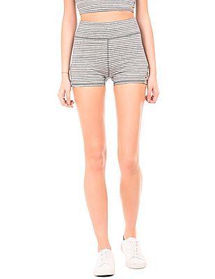 Aeropostale Striped Heathered Knit Shorts