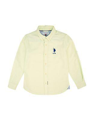 U.S. Polo Assn. Kids Boys Regular Fit Button Down Shirt