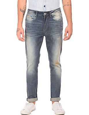 Ed Hardy Stone Washed Whiskered Jeans