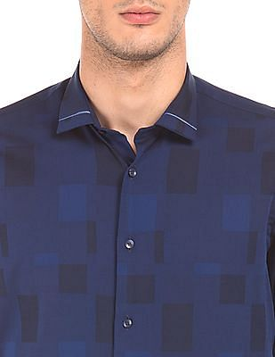 Arrow Newyork French Placket Check Shirt