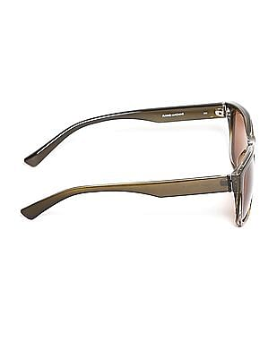 Flying Machine Brown Square Frame UV Protected Sunglasses