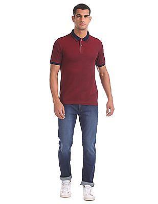 Arrow Sports Regular Fit Two-Tone Polo Shirt