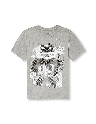 The Children's Place Boys Short Sleeve Geometric Football Player Graphic Tee