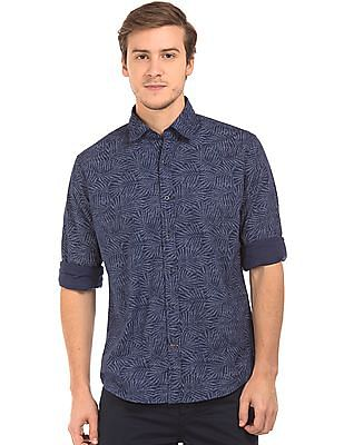 Nautica Slim Fit Leaf Print Shirt