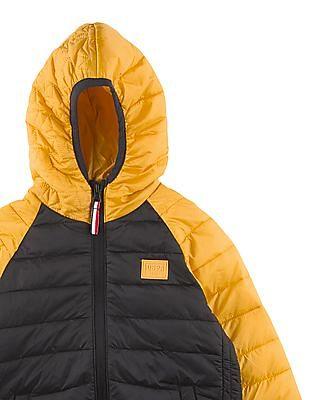 U.S. Polo Assn. Kids Boys Colour Blocked Puffer Jacket