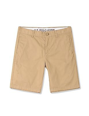 U.S. Polo Assn. Kids Boys Flat Front Twill Shorts