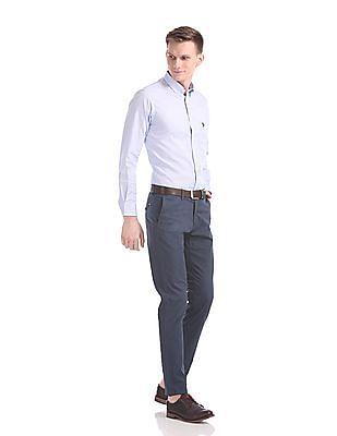 U.S. Polo Assn. Austin Trim Regular Fit Patterned Weave Trousers