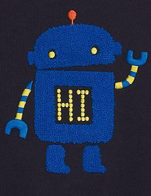 GAP Baby Boy Blue Graphic Colorblock Sweatshirt