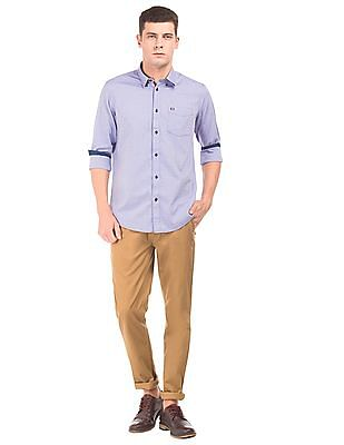 Arrow Sports Anchor Pattern Slim Fit Shirt