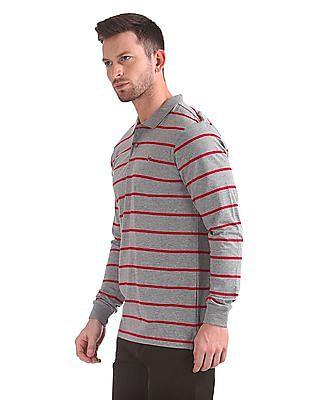Ruggers Striped Long Sleeve Polo Shirt