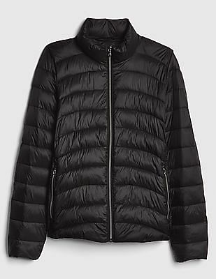 GAP Women Black High Neck Puffer Jacket