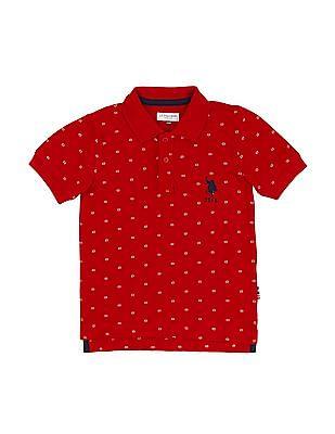 U.S. Polo Assn. Kids Boys Floral Print Polo Shirt