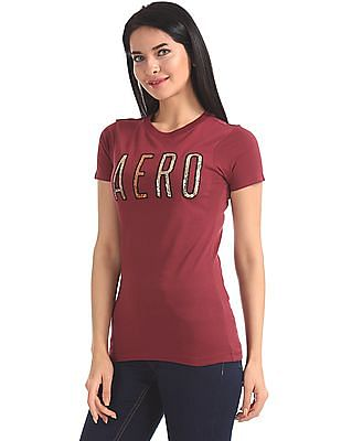 Aeropostale Short Sleeve Embellished T-Shirt