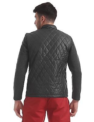 Flying Machine Quilted Knit Sleeve Jacket