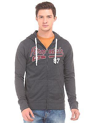 Aeropostale Appliqued Front hooded Sweatshirt