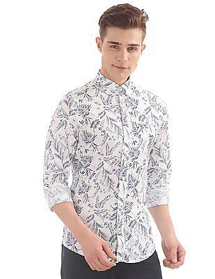 Gant Leaf Print Slim Button Down Shirt