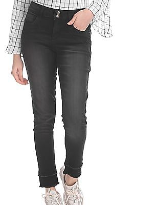 Cherokee Black Skinny Fit Ankle Length Jeans