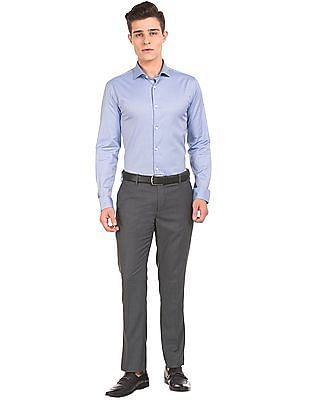 USPA Tailored Solid Slim Fit Trousers