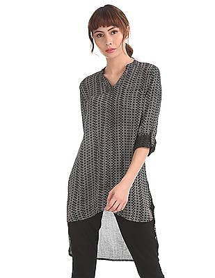 Cherokee Black High-Low Hem Shirt Tunic