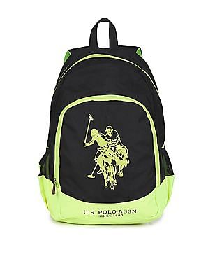 U.S. Polo Assn. Kids Boys Colour Block Printed Backpack