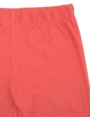 Cherokee Girls Solid Cotton Lycra Leggings