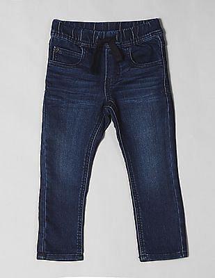 GAP Blue Toddler Boy Knit Dark Wash Jeans
