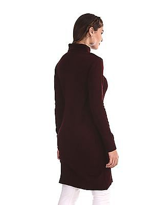 Cherokee Red Turtleneck Longline Sweater