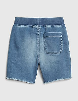 GAP Blue Toddler Boy Superdenim Pull-On Shorts With Fantastiflex