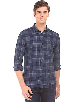 Roots by Ruggers Patterned Weave Check Shirt