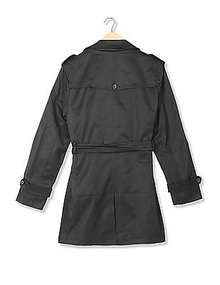 Arrow Newyork Double Breasted Belted Trench Coat