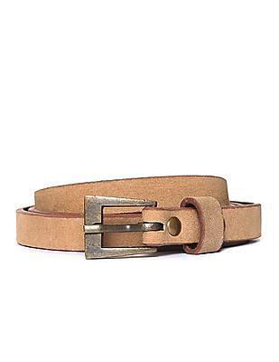 U.S. Polo Assn. Women Slim Leather Belt