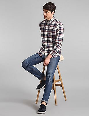 GAP Multi Colour Button Down Collar Check Shirt